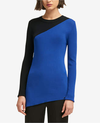 DKNY Asymmetrical Colorblocked Sweater
