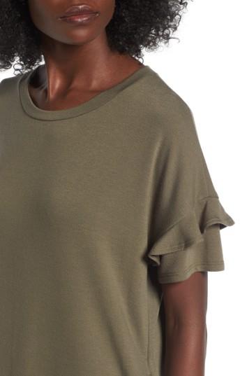 Women's Lush Ruffle Sleeve T-Shirt Dress 5