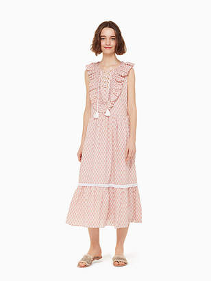 Kate Spade Arrow stripe lace up dress