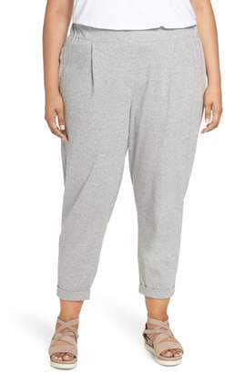 Eileen Fisher Slouchy Cotton Jersey Ankle Pants