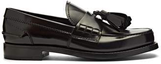 Prada Tassel-trimmed leather loafers