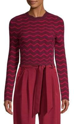 Milly Chevron-Knit Sweater