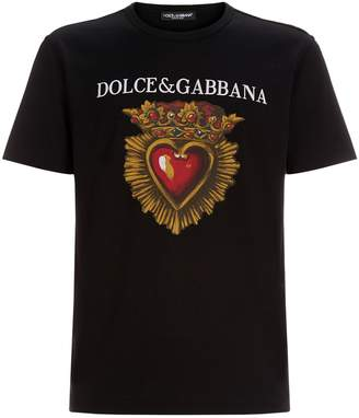 Dolce & Gabbana Cotton Heart T-Shirt