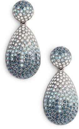 Nina Large Pave Swarovski Crystal Teardrop Drop Earrings
