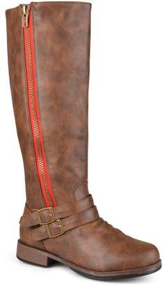 Brinley Co. Women's Extra Wide Calf Knee High Side-zipper Riding Boots