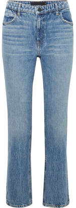 Alexander Wang Cult Cropped High-rise Straight-leg Jeans - Light denim