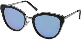 Quay Women's Mirrored Every Little Thing QW-000028-BLK/LIL Cat Eye Sunglasses
