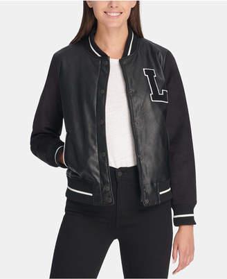 Levi's Mixed-Media Varsity Bomber Jacket