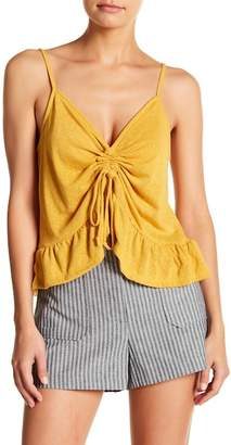Socialite Cinched Peplum Cami