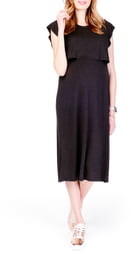Ingrid & Isabel Maternity/Nursing Midi Dress