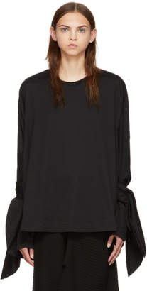Marques Almeida Black Knot Sleeve T-Shirt