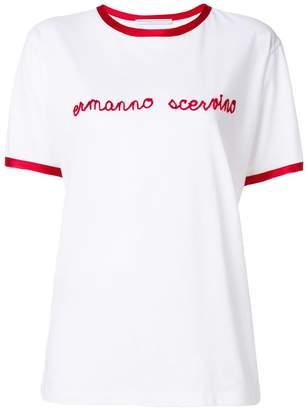 Ermanno Scervino silk trim flocked T-shirt
