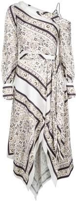 Jonathan Simkhai off-the-shoulder scarf print dress