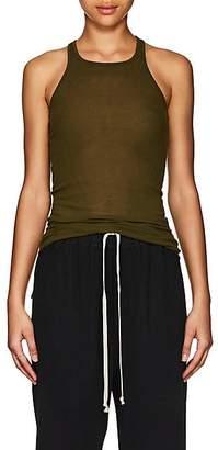 Rick Owens Women's Fine-Gauge Rib-Knit Tank - Dirty Green