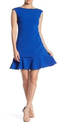 Eliza J Extended Hem Cap Sleeve Dress