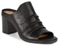 The Flexx Aim to Pleat Leather Mules