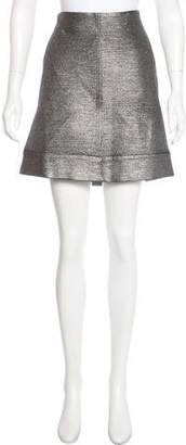 Diane von Furstenberg Metallic Katinko Skirt