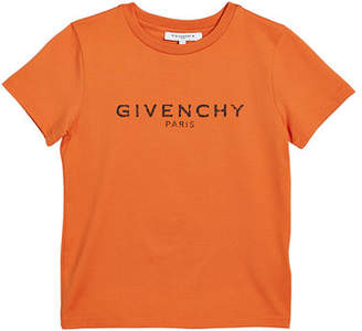 Givenchy Boy's Short-Sleeve Logo Tee, Size 4-10