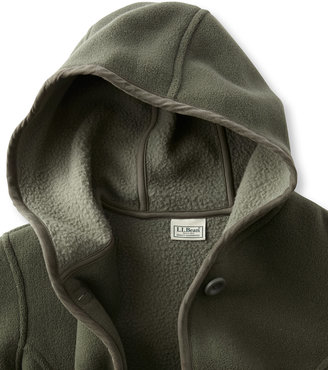 L.L. Bean Women's Kingfield Fleece Coat, Hooded - ShopStyle