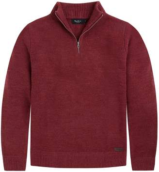 Pepe Jeans Mile High Neck Zip-Up Jumper