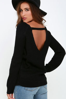 Knit a Chance Black Backless Sweater $44 thestylecure.com