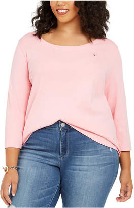 Tommy Hilfiger Plus Size 3/4-Sleeve T-Shirt
