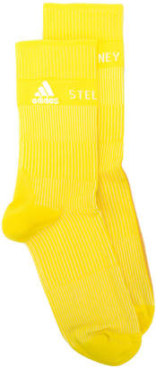 adidas by Stella McCartney ribbed logo socks