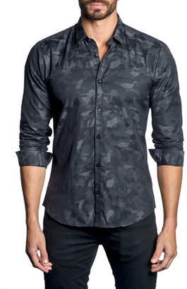 Jared Lang Men's Modern-Fit Camo Long-Sleeve Shirt