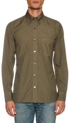 Tom Ford Men's Point-Collar Sport Shirt with Pocket