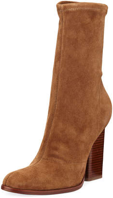 Alexander Wang Gia Stretch-Suede Bootie
