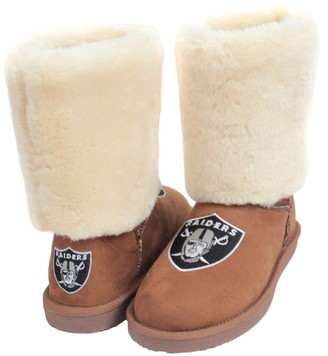 Unbranded Women's Cuce Tan Oakland Raiders Fan Boot