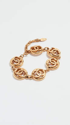 Chanel What Goes Around Comes Around Gold CC Circle Bracelet