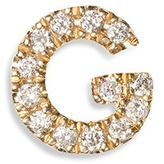 Loquet London Diamond 18k yellow gold letter charm - G