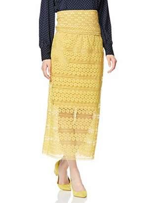 LAGUNAMOON (ラグナムーン) - [ラグナムーン] スカート かぎ編みレーススカート 031920801401 イエロー 日本 M (日本サイズM相当)