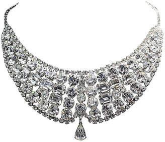 One Kings Lane Vintage 1950s Faceted Crystal Bib Necklace