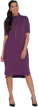Halston H By H by Essentials Regular Turtleneck Midi Dress