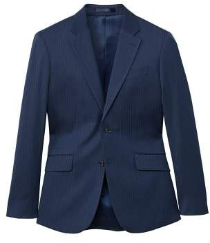 MANGO Regular-fit striped textured suit blazer