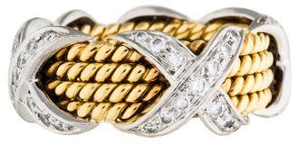 Tiffany & Co. Two-Tone Rope Four-Row X Ring $2,995 thestylecure.com