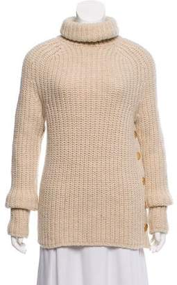 Tibi Wool Turtleneck Knit Sweater