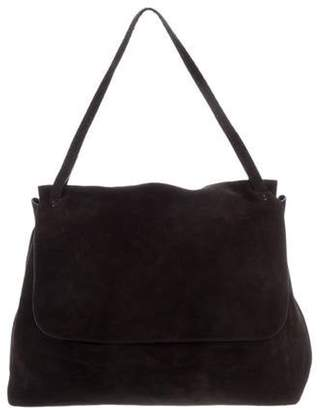 The Row Suede Sidekick Bag Black Suede Sidekick Bag