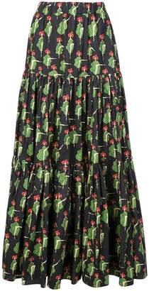 La Doublej printed long full skirt