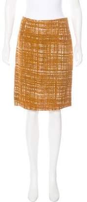 Prada Woven Knee-Length Skirt