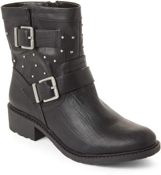 Sam Edelman Black Dannelly Buckle Moto Boots