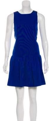 Tibi Sleeveless Flared Mini Dress