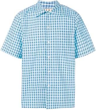 Marni short sleeved checked shirt
