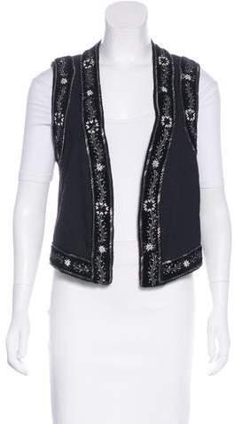The Kooples Embellished Woven Vest