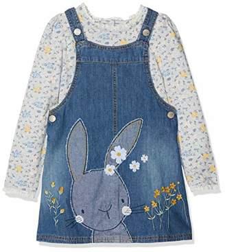 Mothercare Baby Girls' Denim Pinafore Dress, Blue, (Manufacturer Size: 104)