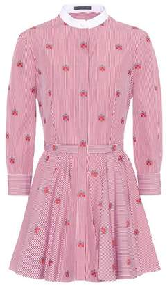 Alexander McQueen Rosette striped cotton tunic