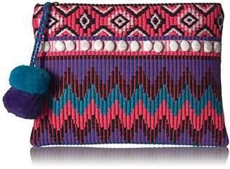 Ale By Alessandra 'ale by alessandra Women's Purple Reign Tribal Clutch With Moonstones and Poms