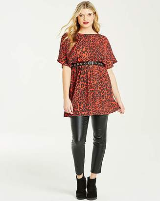 5062a3ee521230 Red Animal Print Top - ShopStyle UK